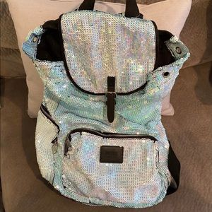 Very rare and hard to find pink sequin backpack